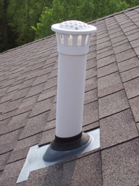 Your vent pipe can become clogged with a birds nest or even tree foliage.