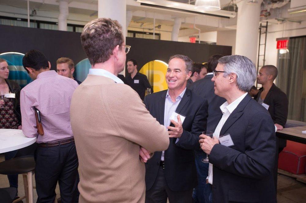 Managing Partner Cliff Sirlin (center) and Venture Partner Stefan Pepe (right)