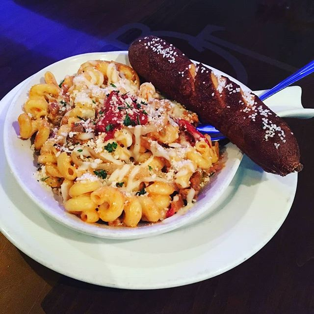 Dinner tonight is Hot Sausage Mac n Cheese! Trivia start at 9pm with $3 Miller Lite drafts until 12pm  Peppers | Onions | Sausage | White Mac Sauce | Marinara | Mozzarella | Parmesan - $10.95