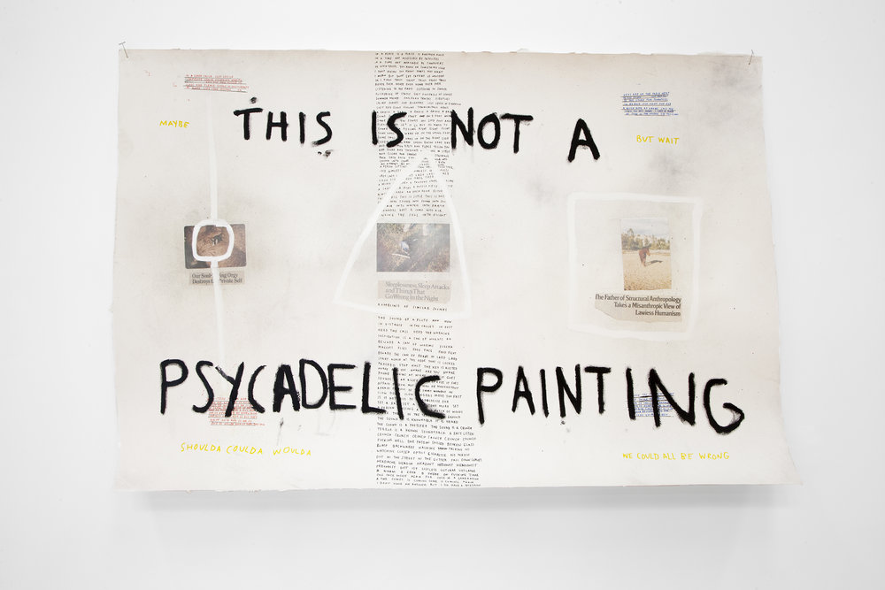 This is a Pyscadelic Painting , 2018, mixed media on watercolor paper, 54 x 36 in