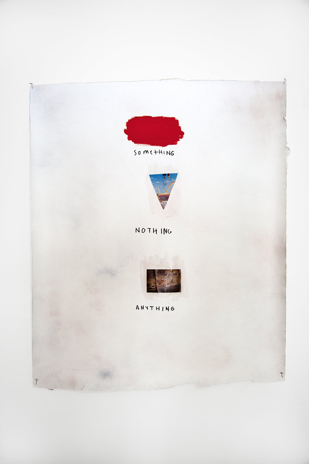 Something Nothing Anything , 2018, mixed media on watercolor paper, 51 x 44 in