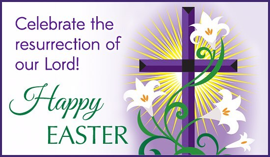 Happy Easter! May you enjoy this day in the Lord with your friends and family!