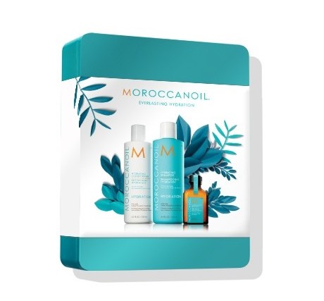 Moroccan Oil Travel Kit Holiday Gift Set Edition  - Travel kits are a lifesaver for anyone who frequently travels for business or pleasure. This product is available in three different varieties to meet the needs of all hair types, including:- DESTINATION: REPAIR Kit includes Moroccan Oil Treatment, Moisture Repair Shampoo and Conditioner and Mending Infusion.- DESTINATION: HYDRATE Kit includes Moroccan Oil Treatment, Hydrating Shampoo and Conditioner and Hydrating Styling Cream- DESTINATION: VOLUME Kit includes Moroccan Oil Treatment Light, Extra Volume Shampoo and Conditioner and Root Boost