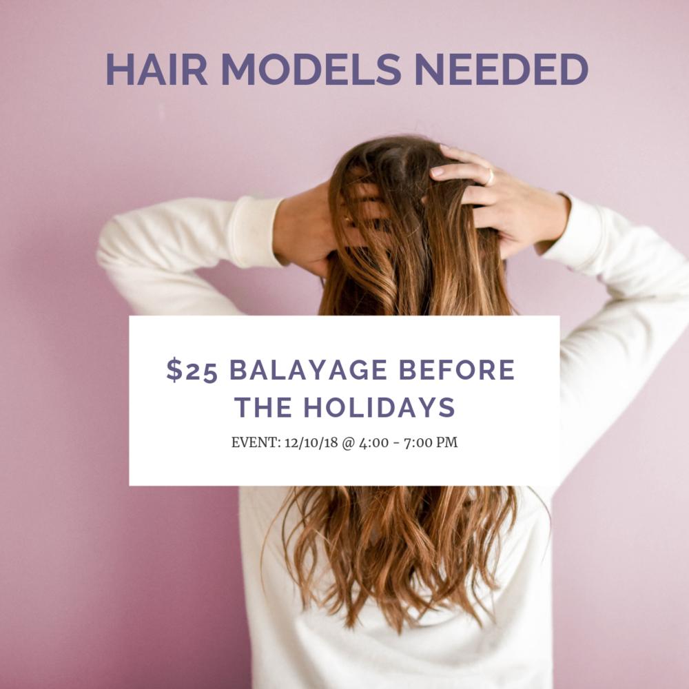 Seeking Balayage Hair Models