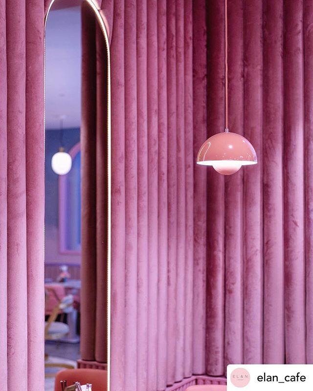 EL&N Cafe 💗 Fun Friday hang out! Dreamy velvet upholstered walls. Nice photo @Amelia_hal �. #coolcafe #designinspiration #upholstery #designideas #stylishdesigns #photography #funfriday #interiors #londonbylondoners #foodie #velvetfabrics