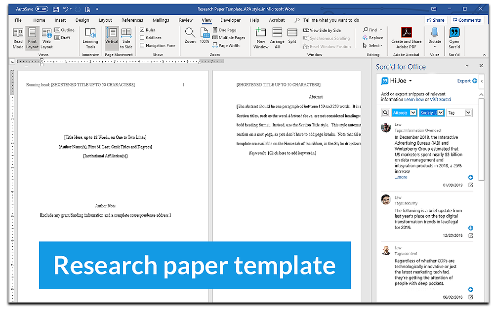 Research Paper Templates ALA MLA Chicago Style Citation Template