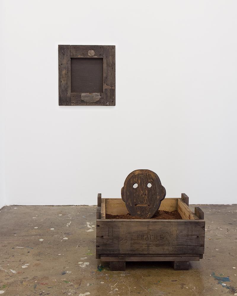Dirt Crate Mask, 2018, Lawrence Seward
