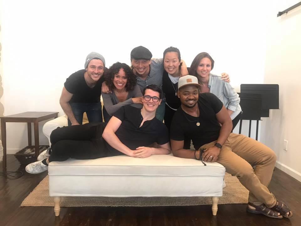 Group photo from Athena Theatre's monthly play reading series at the  Dramatists Guild Fund on June 15th. We readWhile the Stars Fall by  Andrew Wnuk .