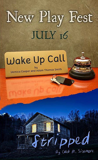 """Saturday July 16th!   WAKE UP CALL , written and directed by Veronica Cooper and Adam Thomas Smith, is a hilarious semi-autobiographical account of the mischief and shenanigans that take place behind the scenes at a hotel on Christmas Eve. You may never look at the staff at a hotel the same way again."""" http://www.broadwayworld.com/norfolk/article/Wolfbane-Productions-to-Host-New-Work-Festival-20160705#"""
