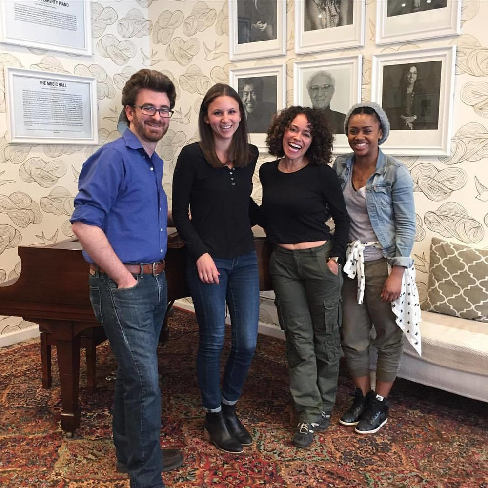 In rehearsal at the Dramatists Guild Fund with Brad Raimondo, Lana Young, and Joanie Anderson for my 10 min play The Bright Side of Keurig. Join us May 17th at Symphony Space. Tickets and more info here  http://www.symphonyspace.org/event/9247/Theatre/an-unseen-visitor-an-evening-of-ten-minute-plays