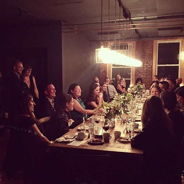 Oct 14th, I presented a piece of writing at a @springstreetsocialsociety dinner but didn't take a single photo so here's one I stole from @marisanate. Thanks for inviting me to share! #ssssmembersonly (at The Kitchen Table)