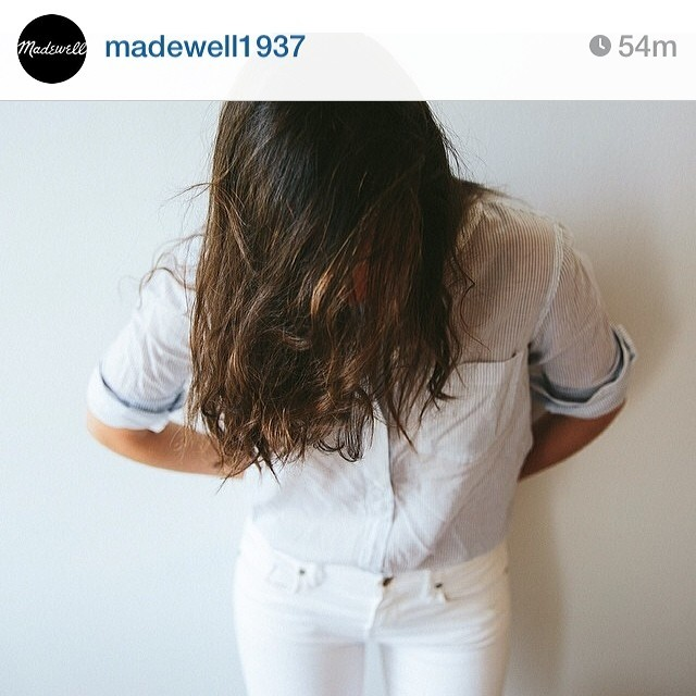 From a social media shoot for Madewell. Showing off some hot pants.