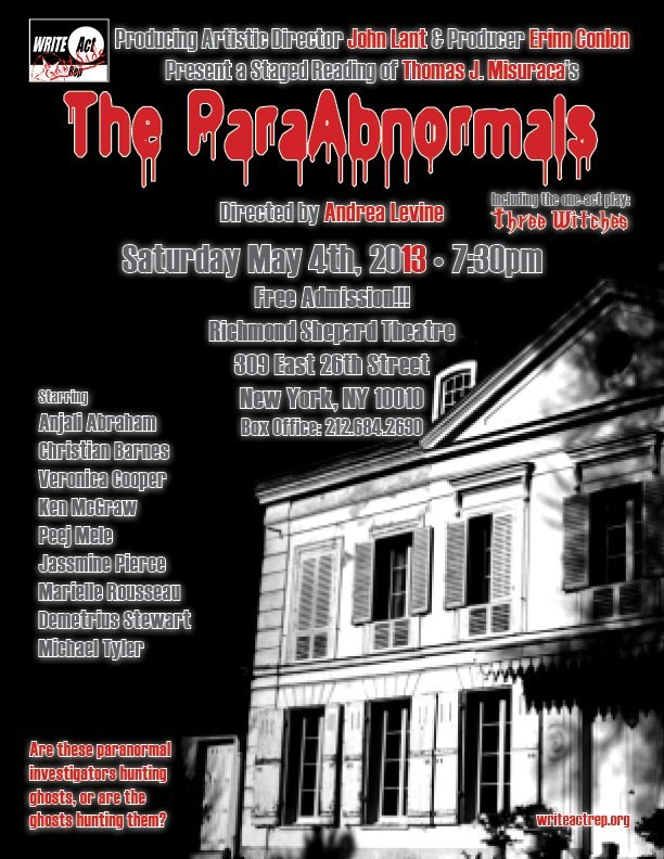 I'm doing a staged reading of this hilarious play at Richmond Shepard Theater - May 4th (Star Wars Day #nerdalert)   Come on out for some spooky silliness!