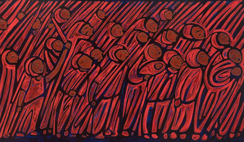 red marcha, 2017, 48x18