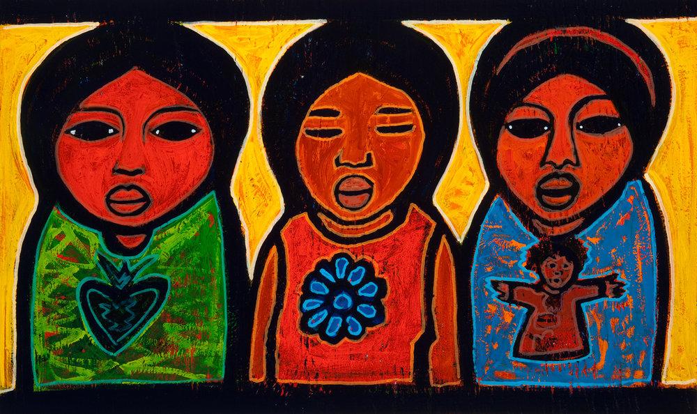 3 hermanas, 2009, 23x14