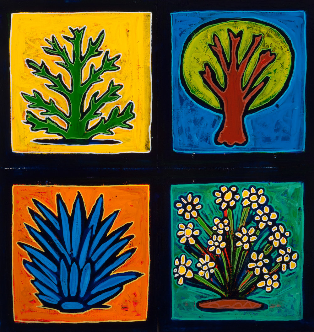 4 plants, 2009, 23x24