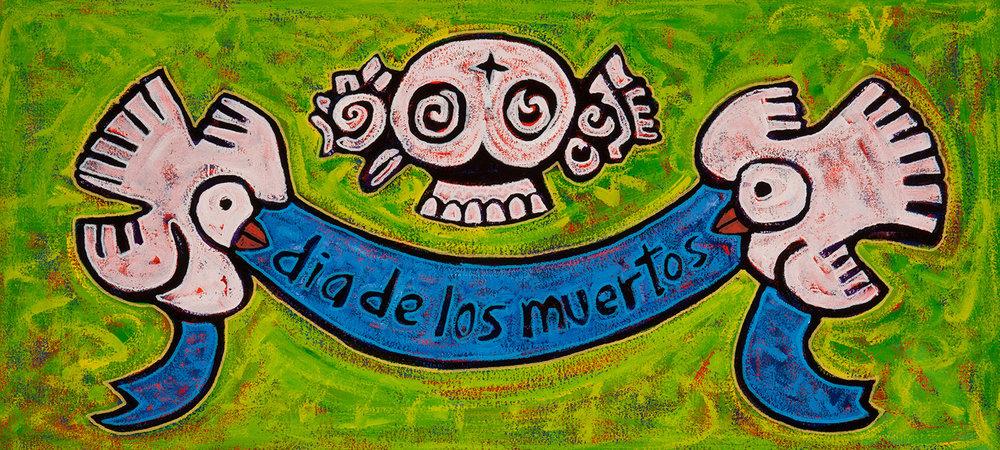 dia de los muertos, 2013, 30x14