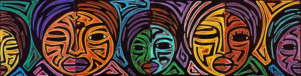 faces, 2007, 28x7