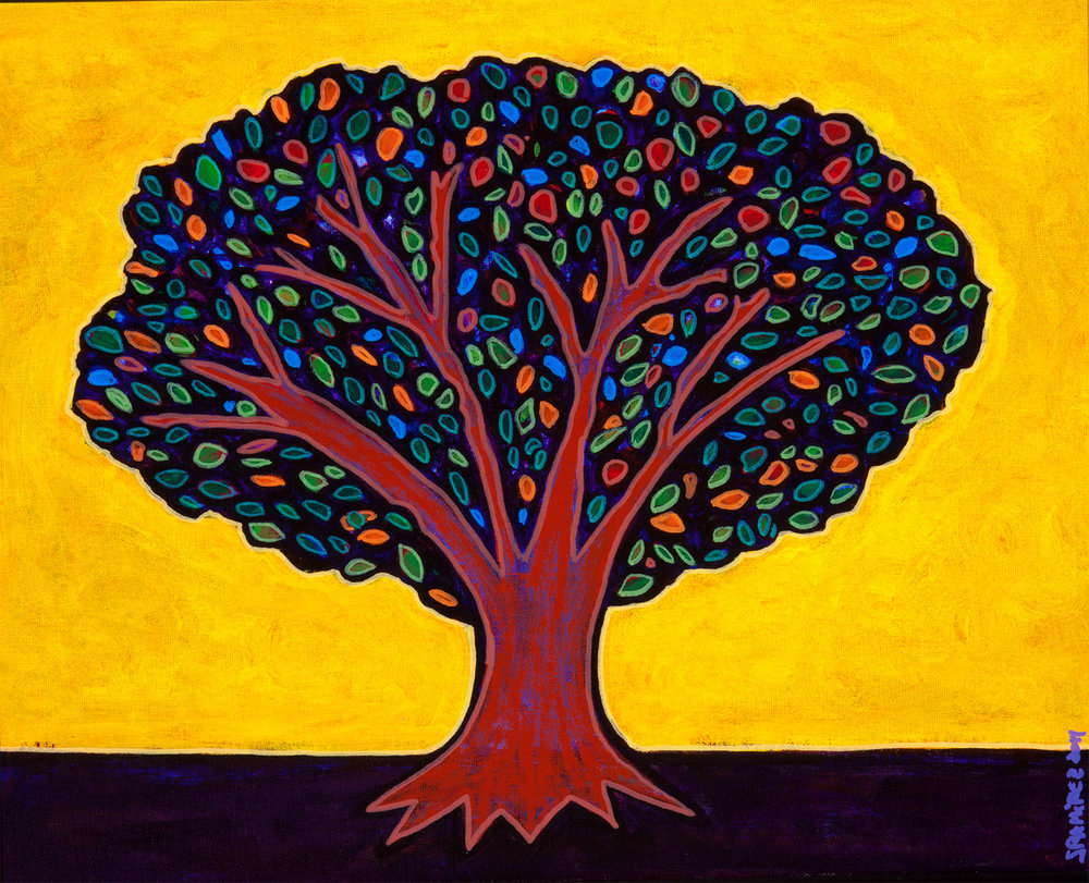fruit tree, 2011, 22x18
