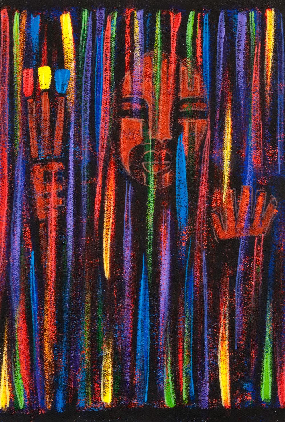 invisible, 2007, 12x18