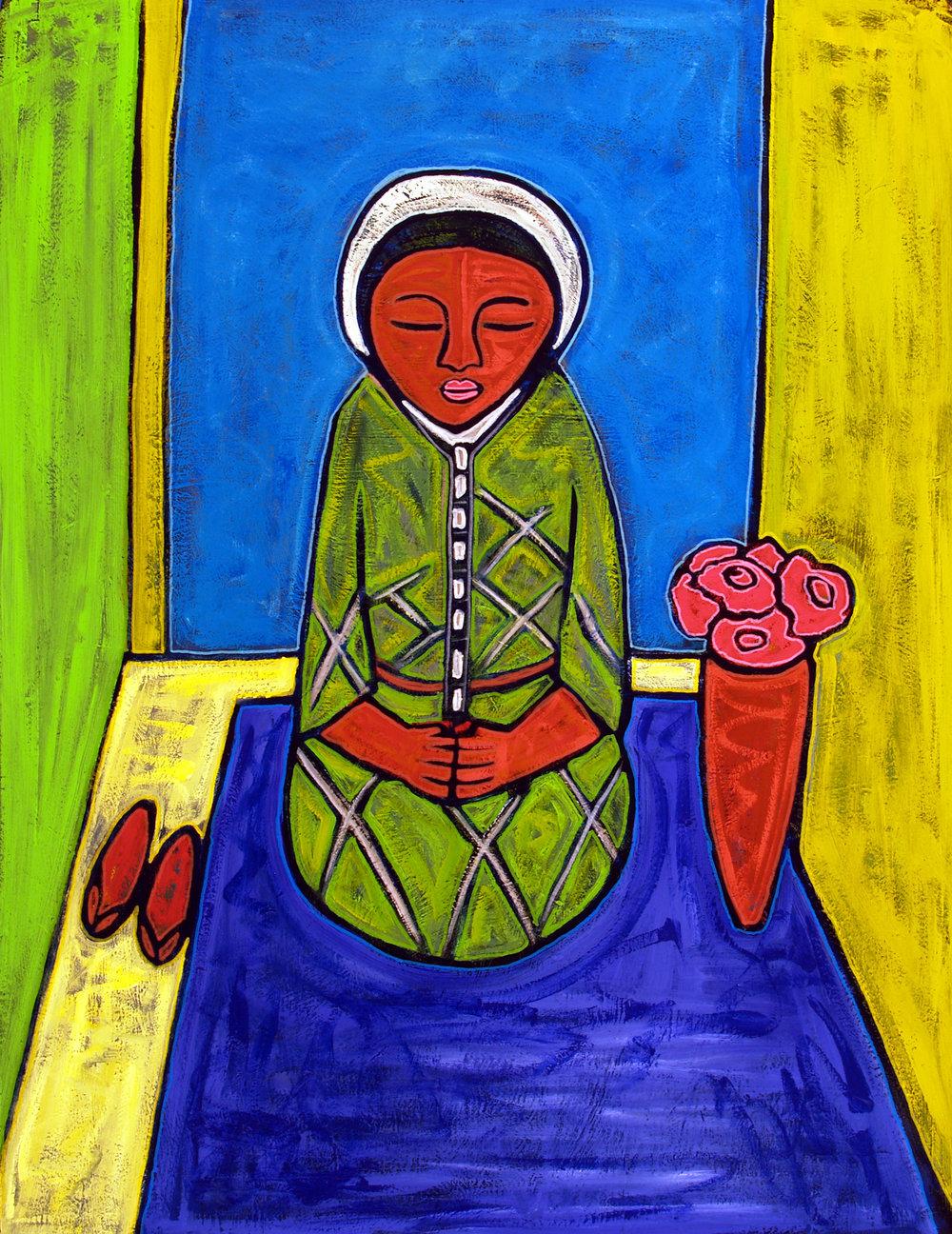 mujer sentada, 2007, 33x40
