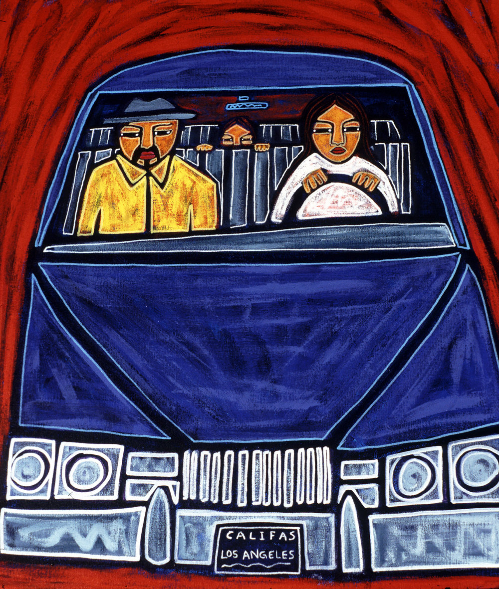 roadtrip to aztlan, 1998, 23x27