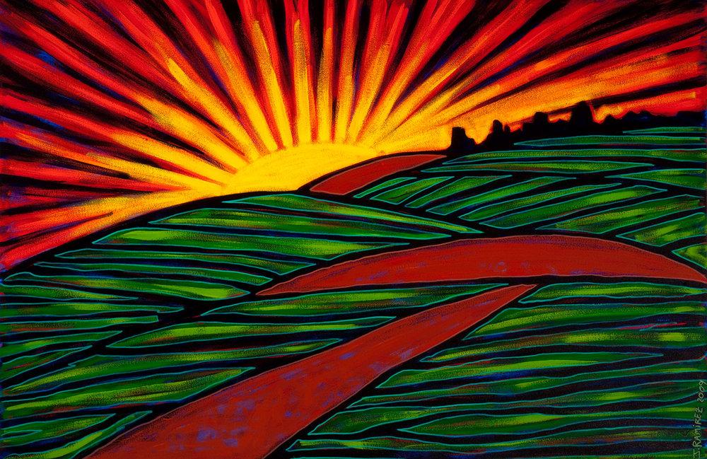 amanecer, 2009, 18x8