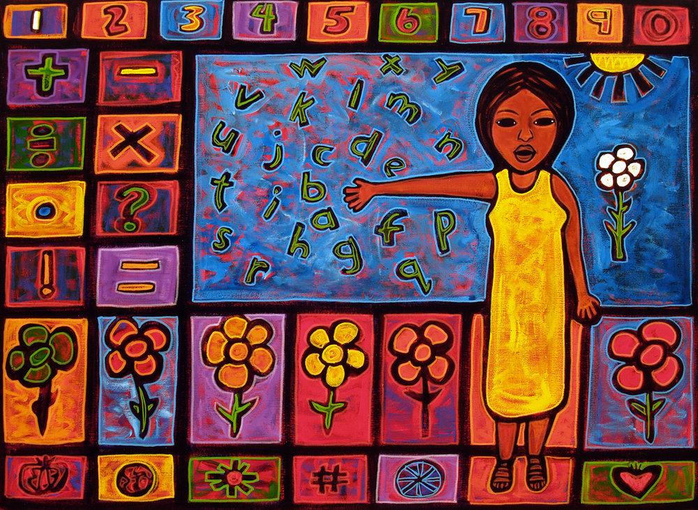 la maestra, 2008, 17x12