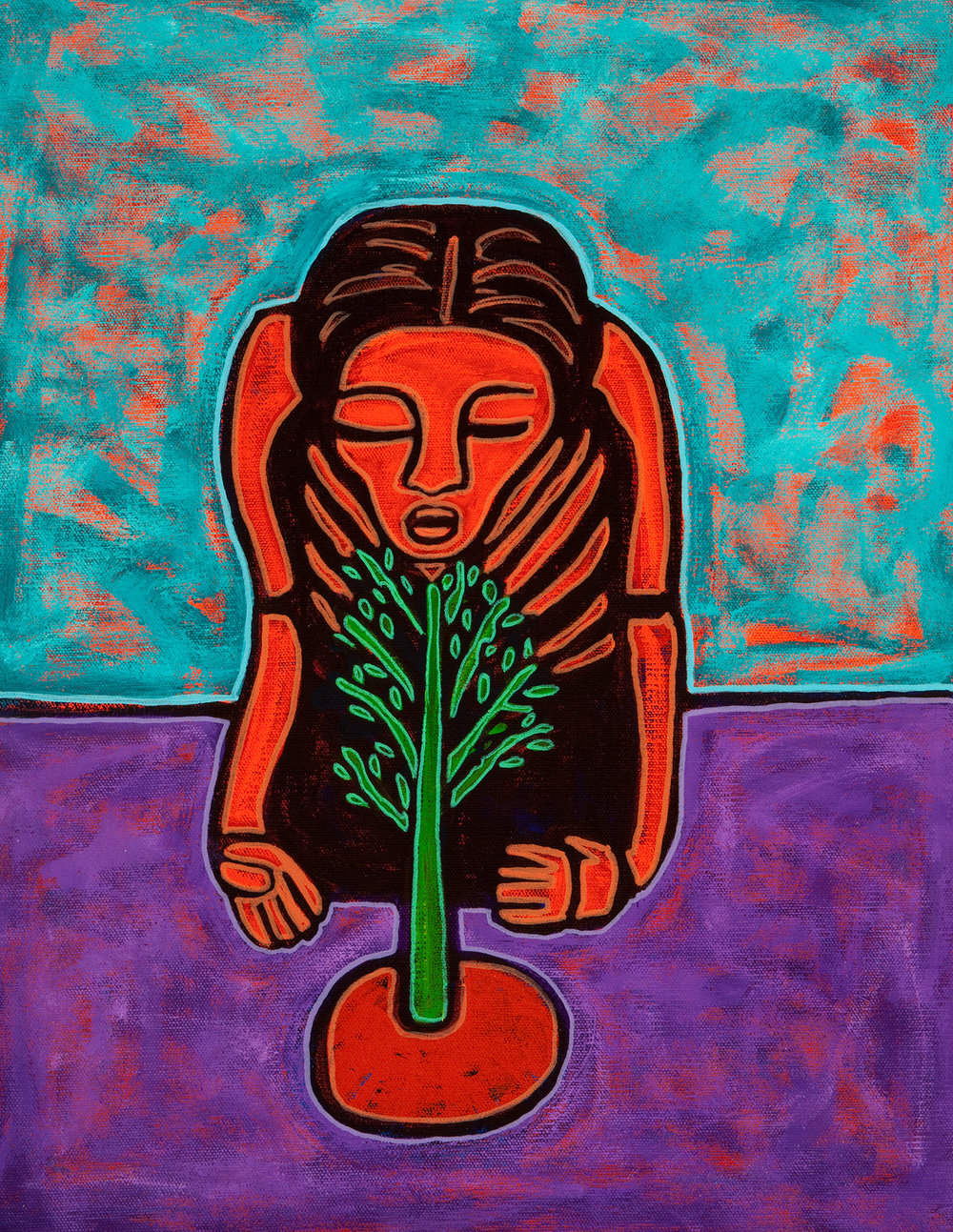 jardinero, 2010, 12x14