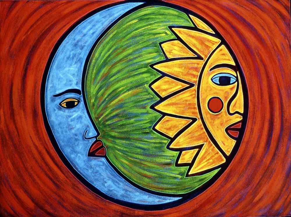 luna sol, 2000, 14x11