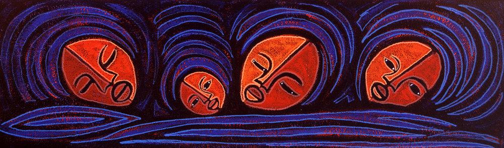 mamas azul, 2005, 12x6