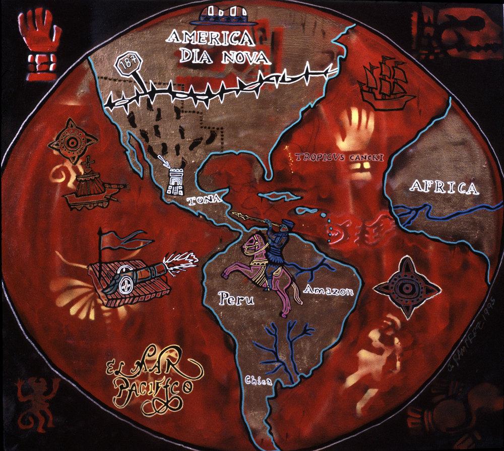 mapa del 187, 1995, 11x9