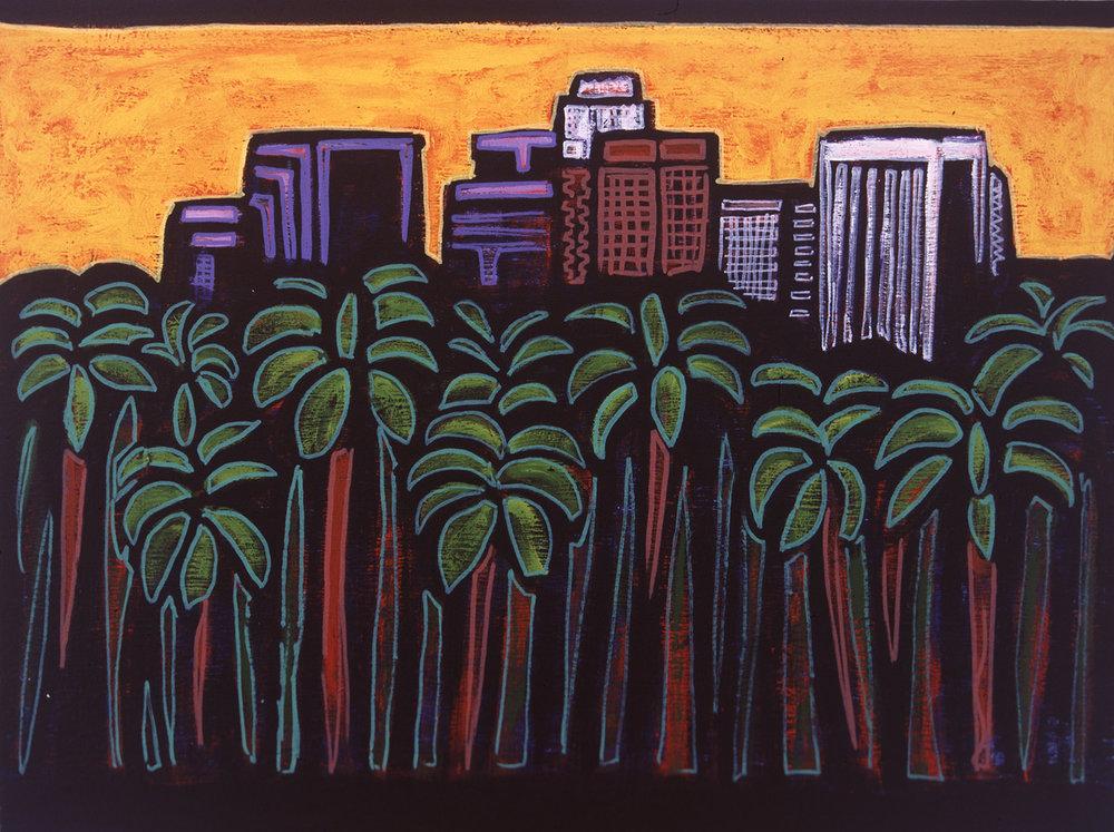 palm tree la, 2004, 16x13