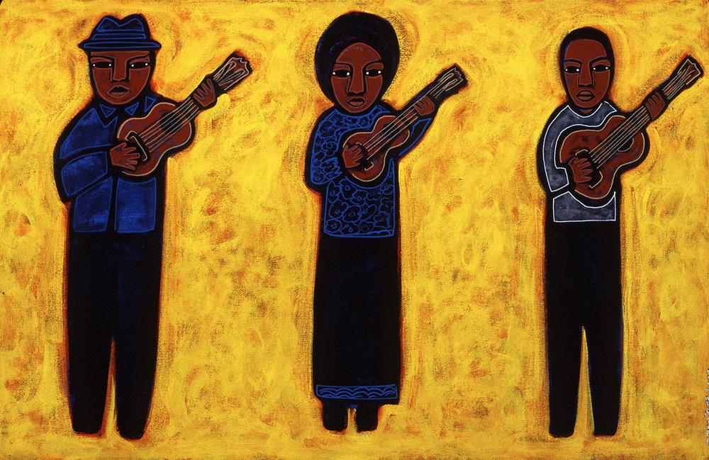tres músicos, 2000, 8x6