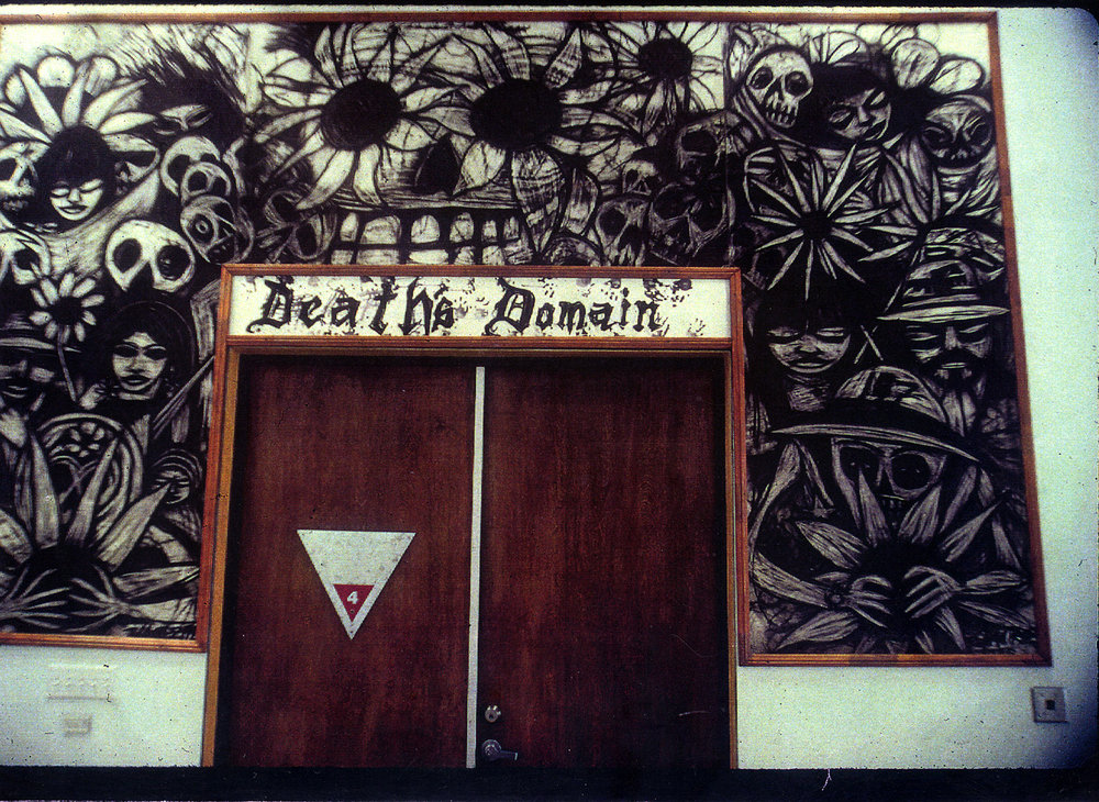 Death's Domain, Dia de los Muertos art show, 18th Street Gallery, 1995.