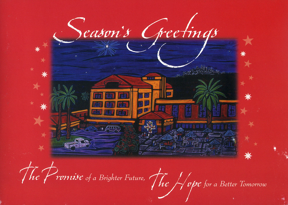 Holiday card for White Memorial Hospital, 2003.