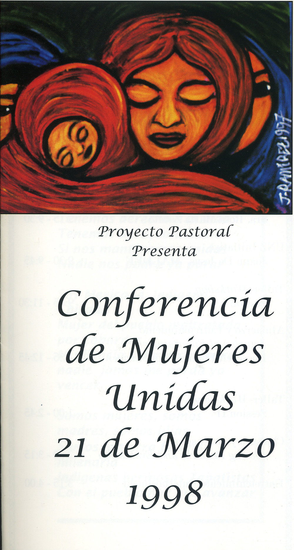 Conferance Artwork, Mujeres en Movimiento, Dolores Mission, Los Angeles, 1998.
