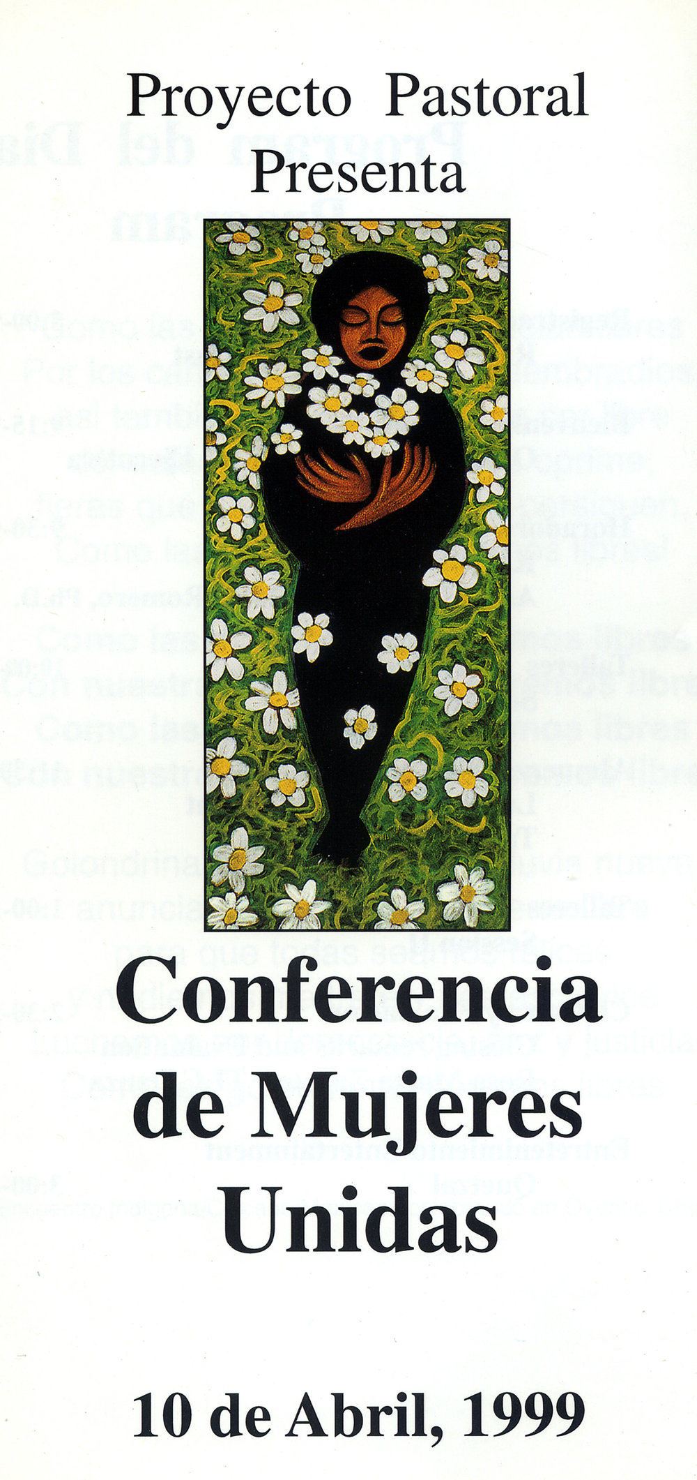 Conference Artwork, Mujeres En Movimiento, Dolores Mission, Los Angeles, 1998.