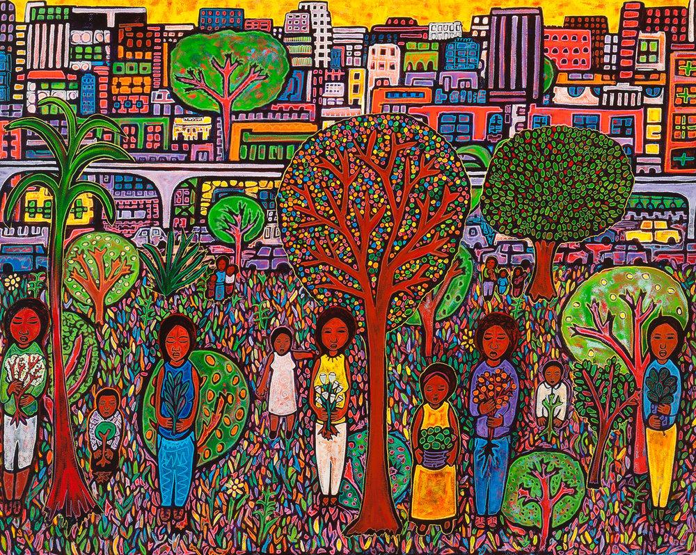 community garden, 2016, 60x48