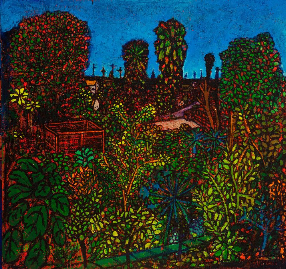 garden, 2016, 32x31