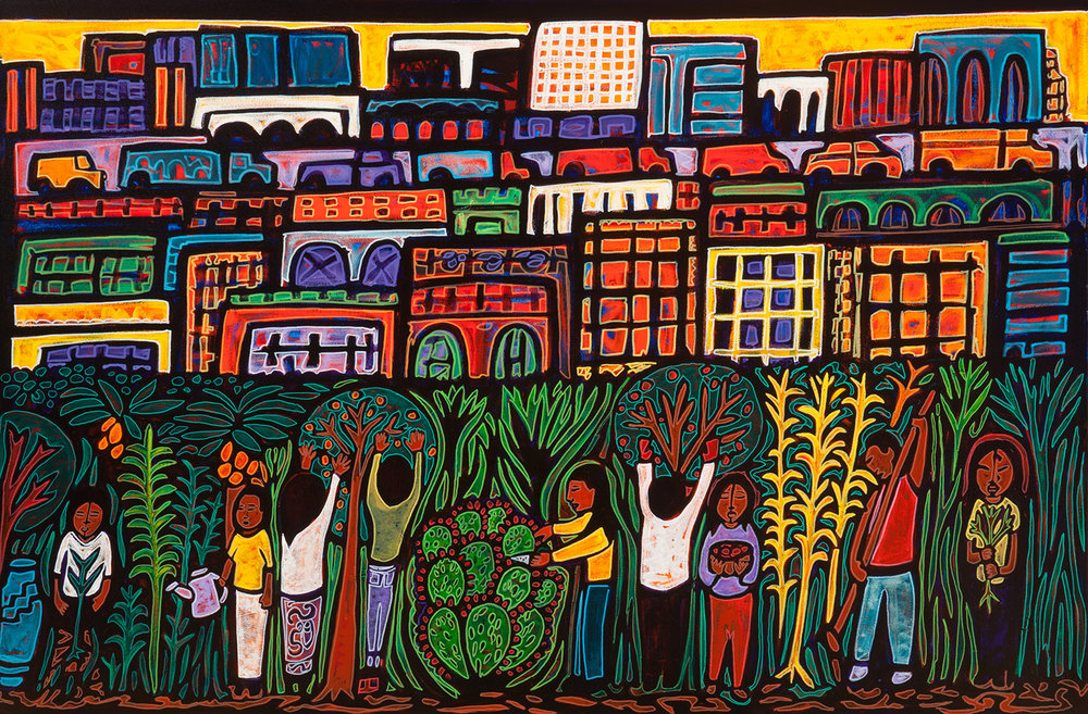jardin el la, 2016, 54x36