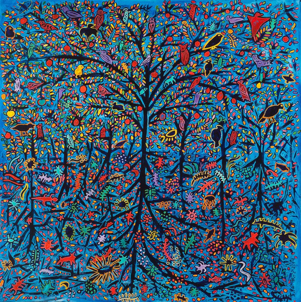 tree of life, 2016, 60x60