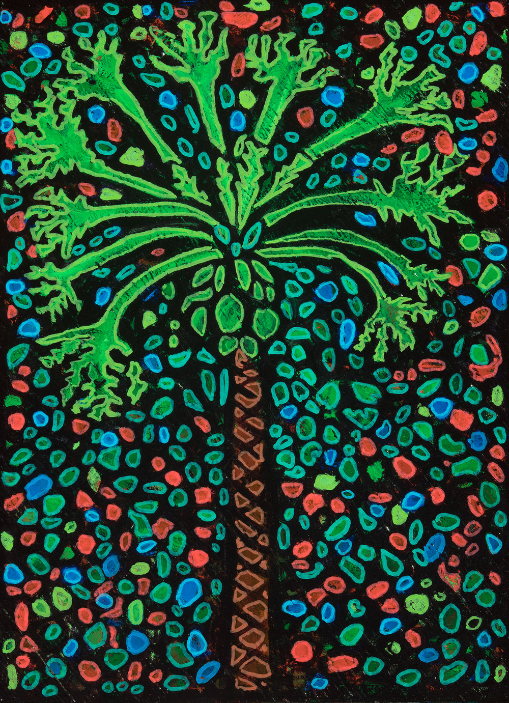 papaya, 2018, 12x16