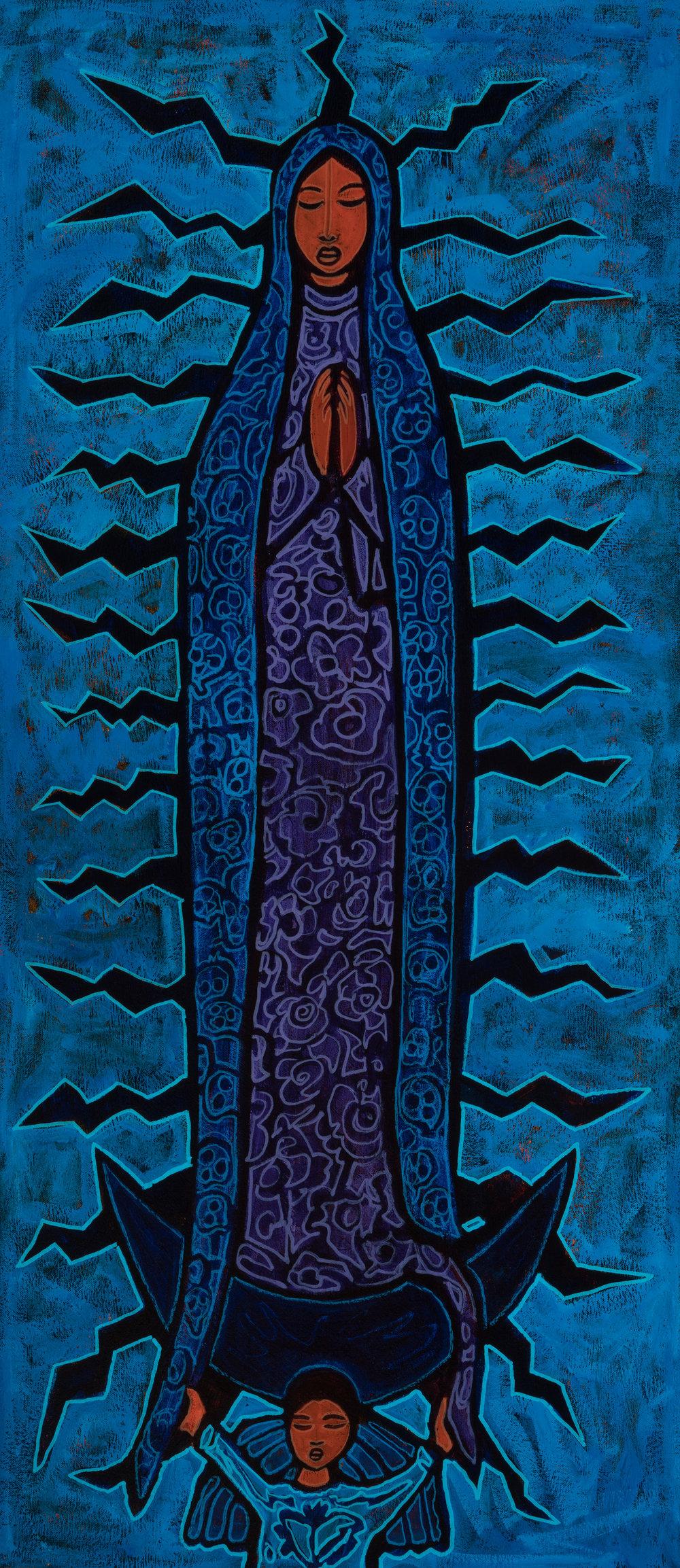 lupe azul, 2018, 16x36