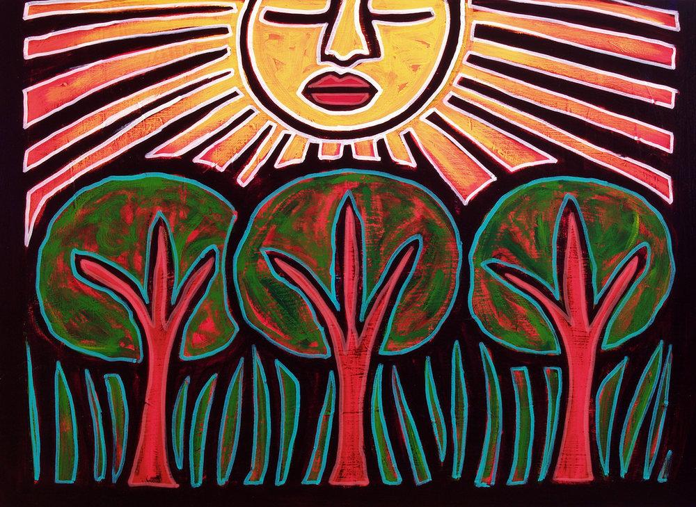sol y arboles