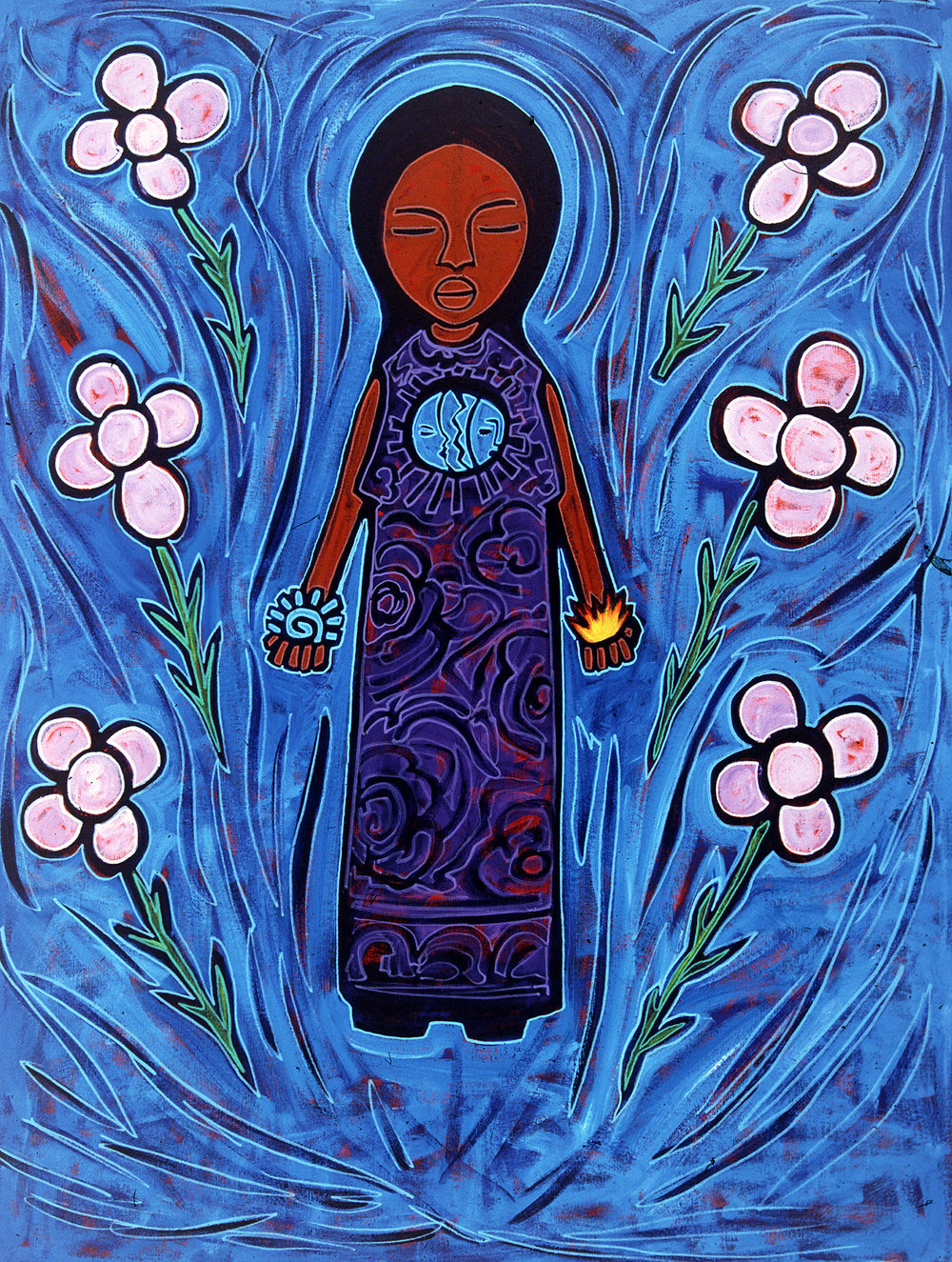 mujer azul 2
