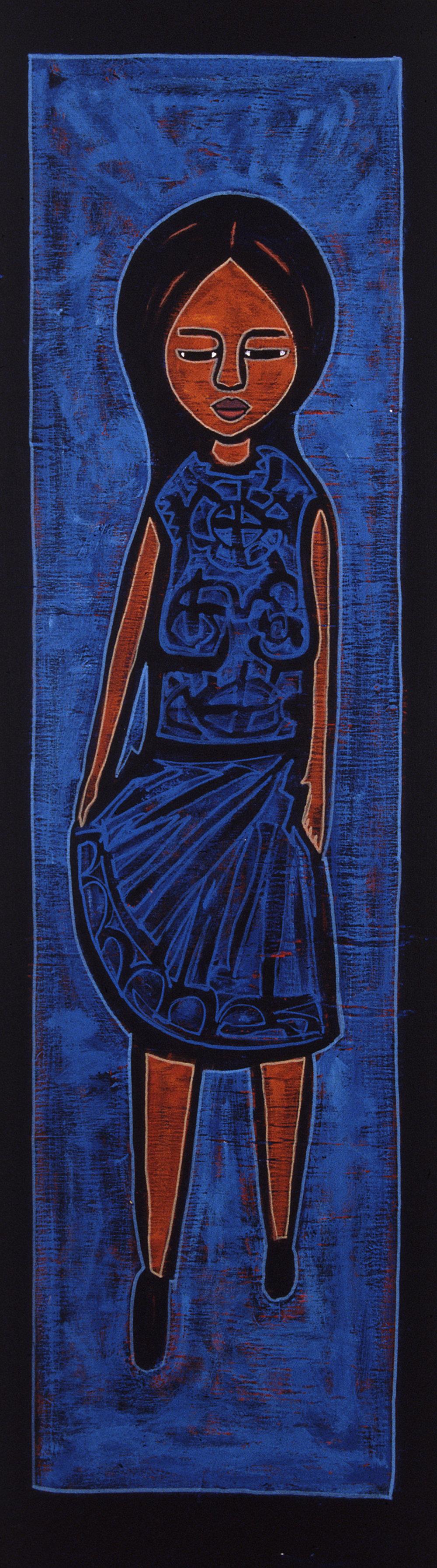 blue dancer