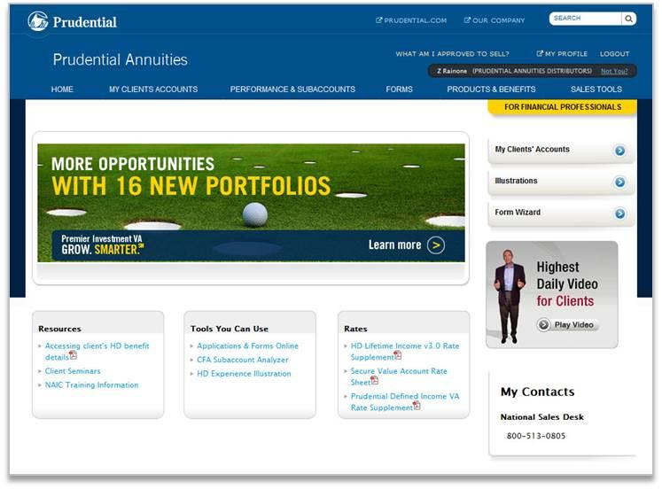 Prudential: FP Portal