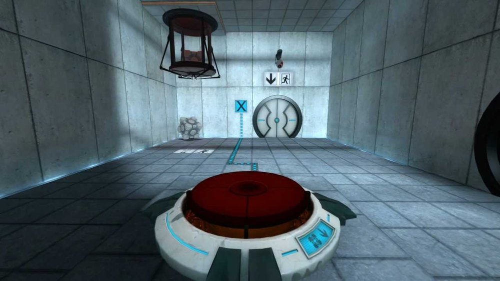 Portal (2007) There's never anything red inside a test chamber that isn't a button.