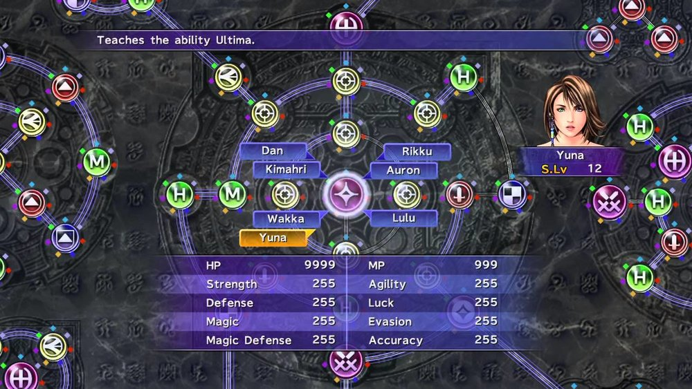 Final Fantasy X (2001) Can new players look at the presentation and understand how the mechanic works?